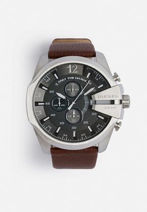 Diesel  Mega Chief Watches Brown / Silver