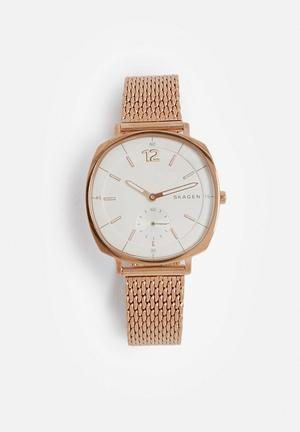 Skagen Rungsted Watches Rose Gold