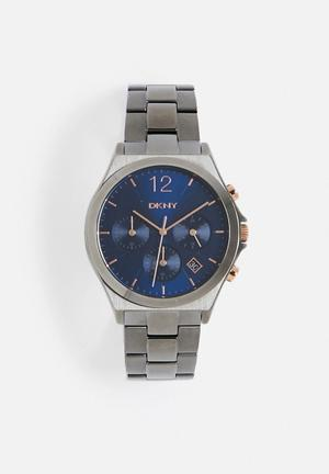 DKNY Parsons Watches Gunmetal / Blue