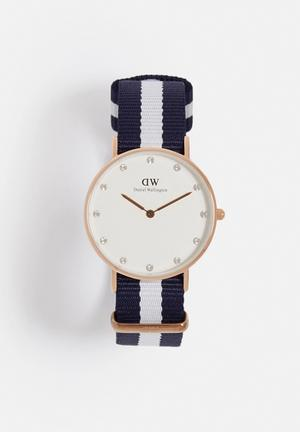 Daniel Wellington Glasgow Watches Rose Gold & Navy