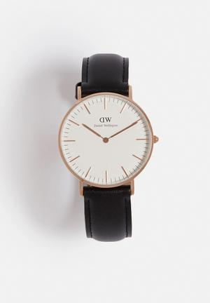 Daniel Wellington Sheffield Watches Rose Gold & Black