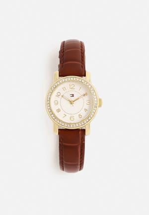 Tommy Hilfiger Rose Watches Brown & Gold