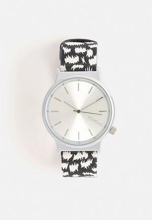 Komono  Wizard Print Series Night Flakes Watches Black & White