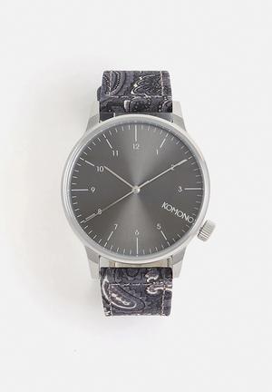 Komono  Winston Print Series Watches Purple / Grey / Silver