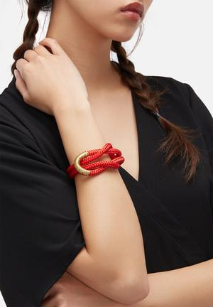Pichulik Mel Sago Bracelet Jewellery Red, Black & Gold