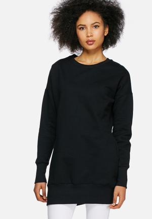 Dailyfriday Longline Sweat Top Hoodies & Jackets Black