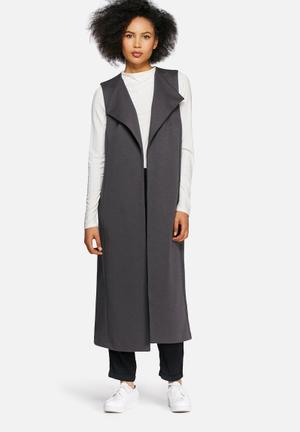 Dailyfriday Sleeveless Jacket Charcoal