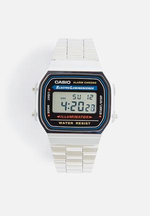 Casio Chrome Alarm Chrono Watches Silver