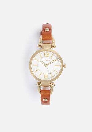 Fossil Georgia Small Watches Brown