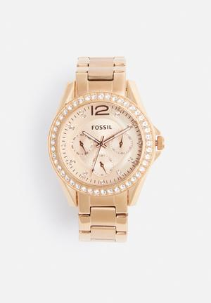 Fossil Riley Watches Rose Gold