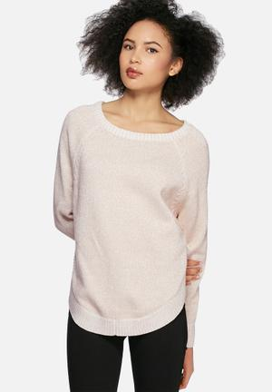 GUESS Chunky Knit Knitwear Cream & Rose Gold