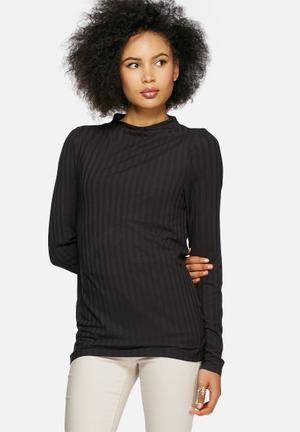 VILA Refa Top T-Shirts, Vests & Camis Black
