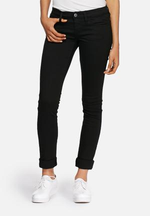Diesel  Skinzee 0813E Low Super Skinny Jeans Black