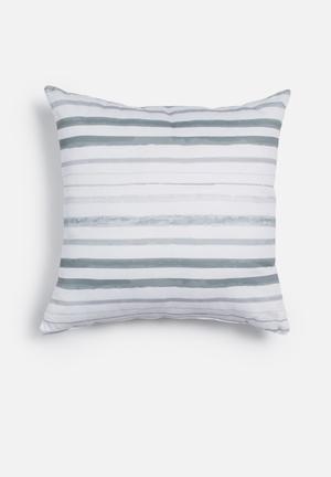Sixth Floor Rough Stripes Printed Cushion Cotton Twill