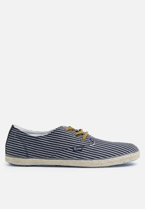 Blend Espadrillos Stripe Slip-ons And Loafers Navy
