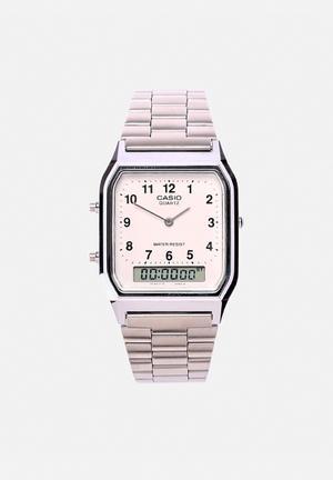 Casio Anadigi Watch AQ230A-7B Silver