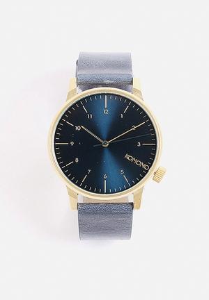 Komono  Winston Regal Watches Gold & Blue