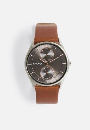 Skagen Holst Watches Saddle/Grey