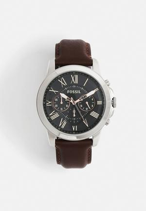 Fossil Grant Watches Brown,Silver & Black