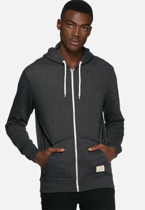 Blend Sweat Zip Hoodie Hoodies & Sweatshirts Charcoal