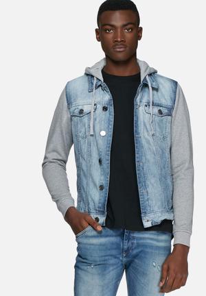 Blend Denim Jacket Sweat  Grey