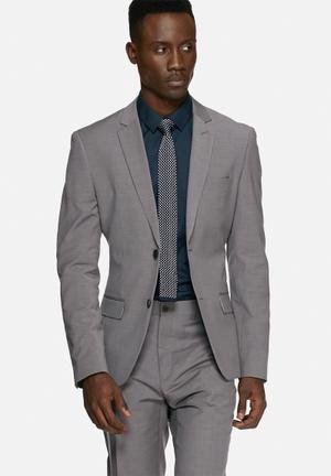 Casual Friday Graham Slim Blazer Jackets & Coats Grey