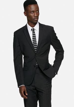 Casual Friday Graham Slim Blazer Jackets & Coats Black
