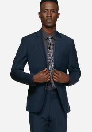 Casual Friday Graham Slim Blazer Jackets & Coats Navy
