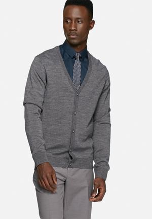 Casual Friday Liam Knit Cardigan Knitwear Charocal