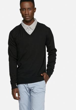 Casual Friday Claude Knit Pullover Knitwear Balck