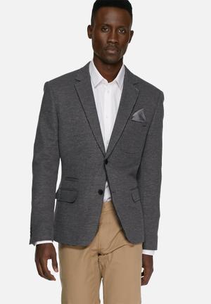 Casual Friday Harry Slim Blazer Jackets & Coats Navy & Charcoal