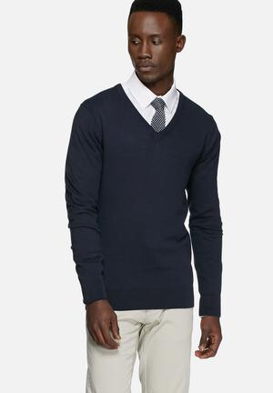 Casual Friday Claude Knit Pullover Knitwear Navy