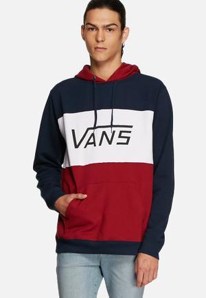 Vans Mannix Hoodie Hoodies & Sweatshirts Navy, Red & White