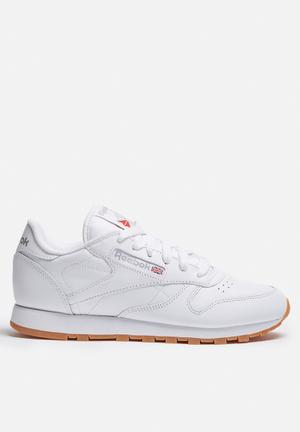 Reebok Classic Leather Gum Sneakers White / Gum