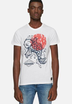 Solid Bayu Tee T-Shirts & Vests Cream