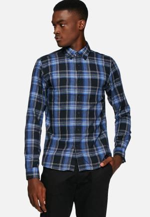 Solid Bevan Shirt Blue