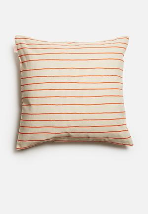 Skinny La Minx Simple Stripe Cushion Cover Cotton / Linen