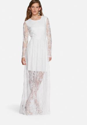 Vero Moda Nanz Lace Dress Occasion White