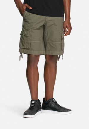 Bellfield Duxford Cargo Shorts Khaki