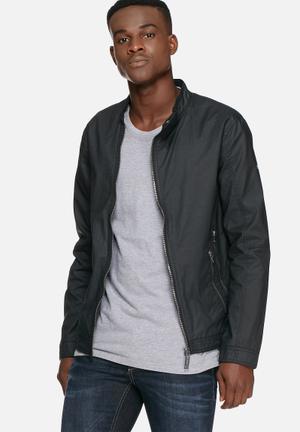 Blend Asymetricl Zip Jacket Black