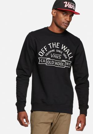 Vans Loring Crew Sweat Hoodies & Sweatshirts Black