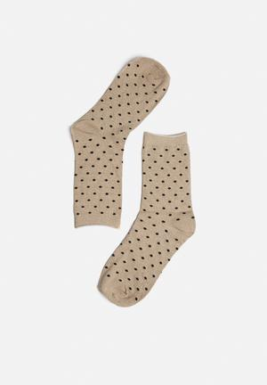 Vero Moda Glitter Socks Gold & Back