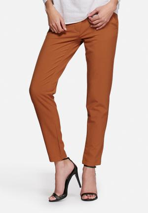 Vero Moda Dama Ankle Pants Trousers Brown