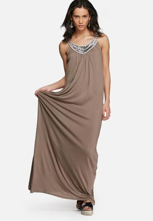 Vero Moda Jannet Maxi Dress Casual Brown