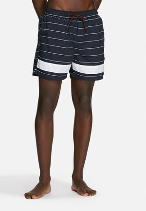 Selected Homme Classic Swim Shorts Swimwear Navy & White