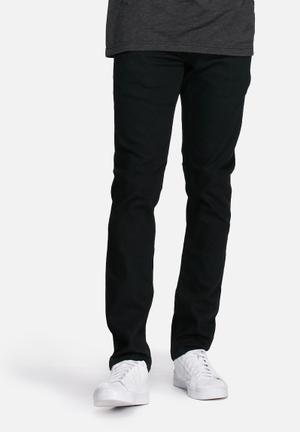 Solid Joy Slim Stretch Jeans Black