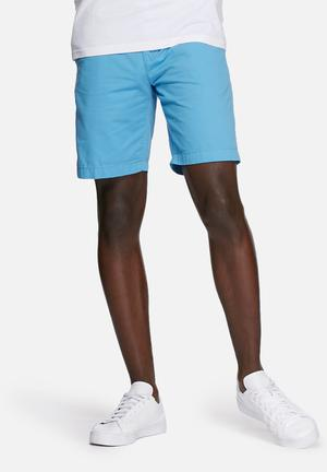 Solid Clement Shorts Blue
