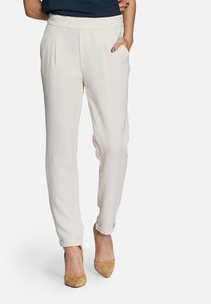 Vero Moda Kakia Loose Ankle Pants Trousers Beige
