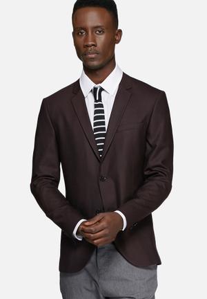 Jack & Jones Premium Roy Slim Blazer Jackets & Coats Burgundy