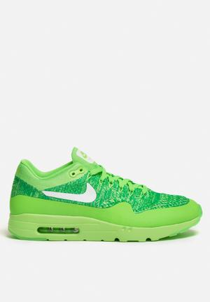 Nike Air Max 1 Ultra Flyknit Sneakers Volt Green / White / Lucid Green